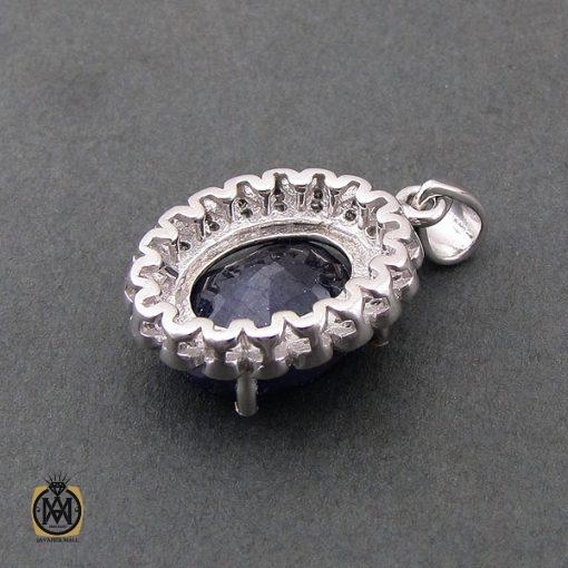 مدال یاقوت کبود زنانه طرح ژینا - کد 3087