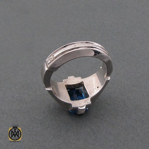 انگشتر توپاز آبی مردانه مرغوب و ارزشمند – کد ۸۴۶۳