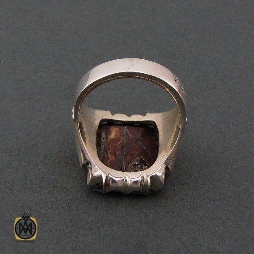 انگشتر فیروزه نیشابوری درشت و مرغوب مردانه دست ساز – کد ۸۴۹۳