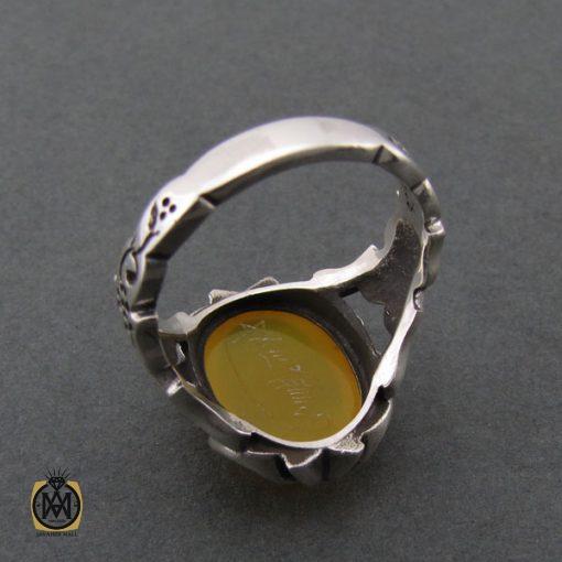 انگشتر عقیق زرد با حکاکی شرف الشمس مردانه - کد 8376 - 3 41 510x510