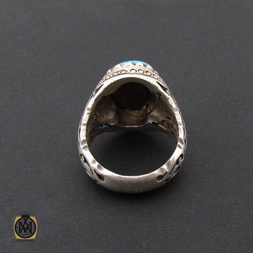 انگشتر فیروزه نیشابور خوش طبع مردانه رکاب دست ساز - کد 8574 - 3 446 510x510