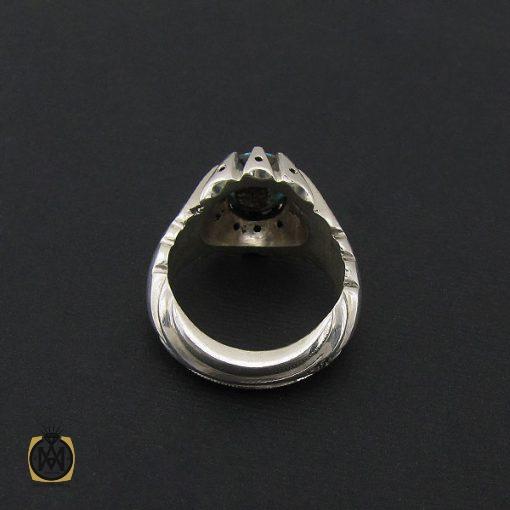 انگشتر فیروزه نیشابور مردانه رکاب دست ساز - کد 8575 - 3 447 510x510