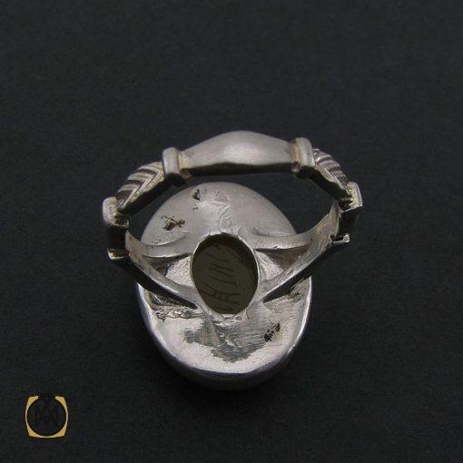 انگشتر عقیق زرد با حکاکی شرف الشمس مردانه – کد ۸۳۸۵