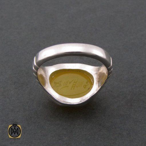 انگشتر عقیق زرد با حکاکی شرف الشمس مردانه - کد 8387 - 3 52 510x510