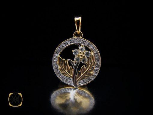 مدال الماس اصل زنانه طرح رومینا – کد ۳۰۵۹