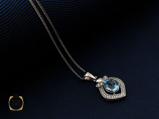 مدال توپاز آبی زنانه طرح تاما – کد ۳۰۷۷