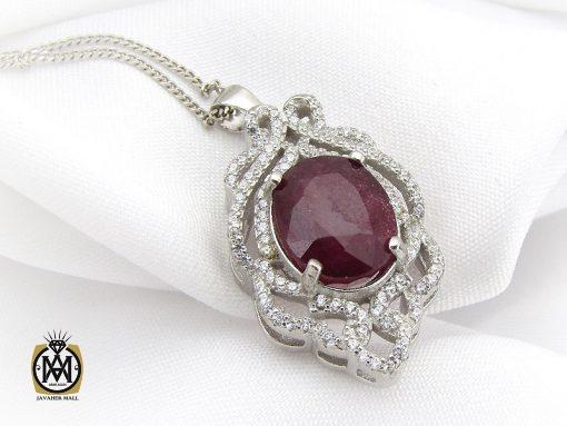 مدال یاقوت سرخ زنانه طرح دریتا - کد 3082 - 3082 510x383