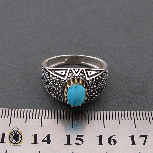 انگشتر فیروزه نیشابوری مردانه - کد 8393 - 4 108 510x510