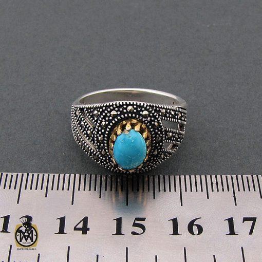انگشتر فیروزه نیشابوری مردانه - کد 8400 - 4 115 510x510