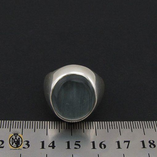 انگشتر آکوامارین مردانه درشت و معدنی - کد 8553 - 4 420 510x510