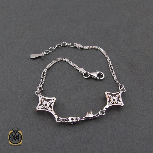 دستبند نقره طرح ثمین زنانه - کد 1071 - 4 87 510x510
