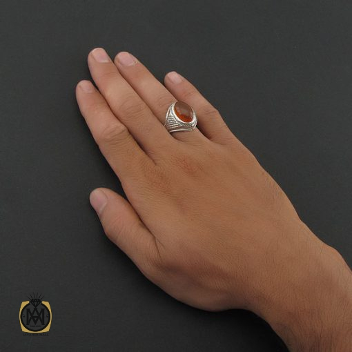 انگشتر عقیق یمن مردانه – کد ۸۴۱۸