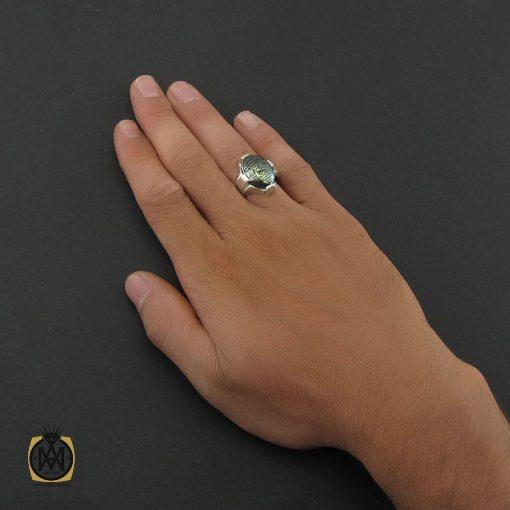 انگشتر حدید با حکاکی عین علی و سه جلاله مردانه – کد 8442 - 5 149 510x510
