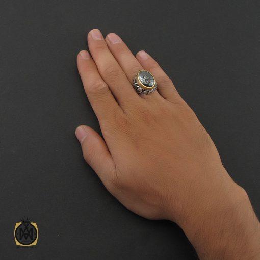انگشتر حدید با حکاکی عین علی مردانه – کد 8447 - 5 154 510x510