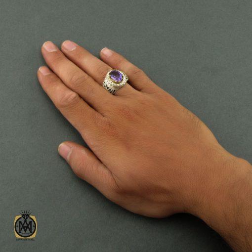 انگشتر آمتیست ارزشمند مردانه – کد ۸۴۵۹
