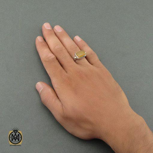انگشتر عقیق یمن با حکاکی شرف الشمس استاد ضابطی دست ساز – کد ۸۴۶۸