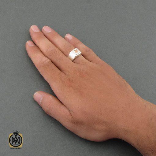 انگشتر نقره حرزدار استاد ضابطی مردانه - کد 8471
