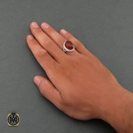 انگشتر عقیق یمن مردانه – کد ۸۴۷۶