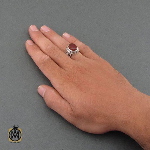 انگشتر عقیق یمن مردانه دست ساز – کد 8480 - 5 185 510x510