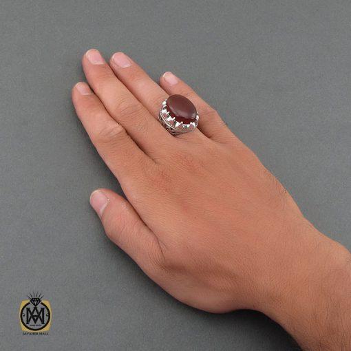 انگشتر عقیق یمن مردانه درشت و خوش رنگ – کد ۸۴۸۲