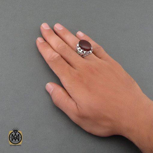 انگشتر عقیق یمن ارزشمند و زمرد مردانه – کد ۸۴۸۳