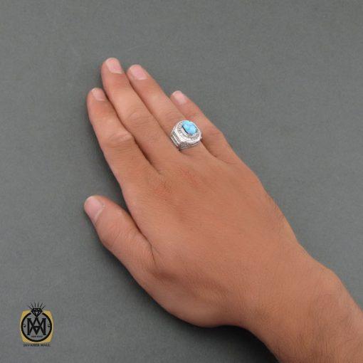 انگشتر فیروزه نیشابوری مردانه – کد ۸۴۹۱