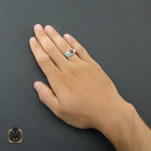 انگشتر پنج نگین رینگی دست ساز – کد ۸۴۹۵