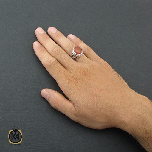 انگشتر عقیق یمن مردانه دست ساز – کد ۸۵۰۴