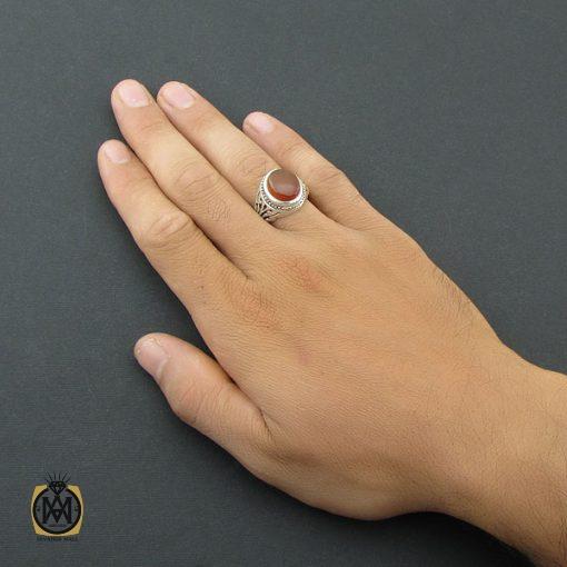 انگشتر عقیق یمن مردانه دست ساز – کد ۸۵۰۸