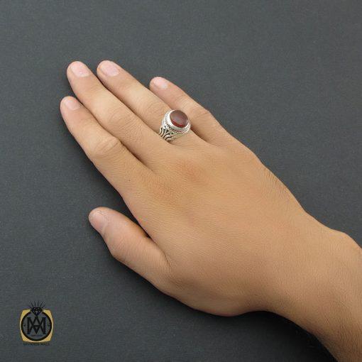 انگشتر عقیق یمن مردانه دست ساز – کد ۸۵۱۳
