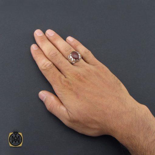انگشتر عقیق یمن مردانه هنر دست استاد شرفیان – کد ۸۵۱۷