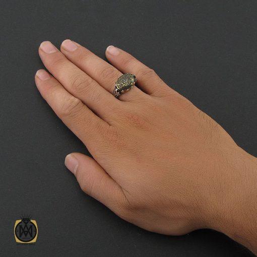 انگشتر حدید سینی با حکاکی ناد علی مردانه – کد ۸۳۶۶