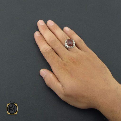 انگشتر عقیق یمن مردانه دست ساز – کد ۸۵۲۸