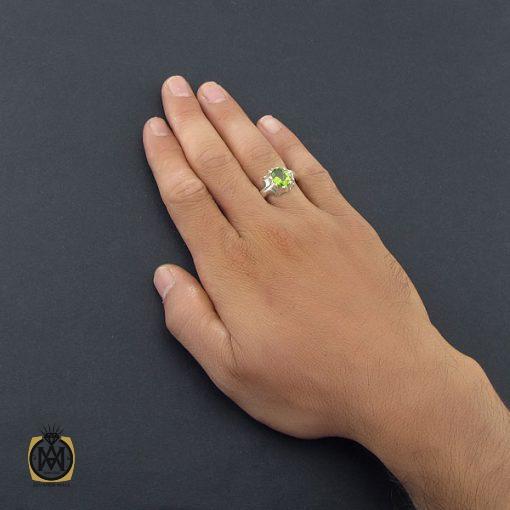 انگشتر زبرجد مردانه با رکاب دست ساز – کد ۸۵۴۹