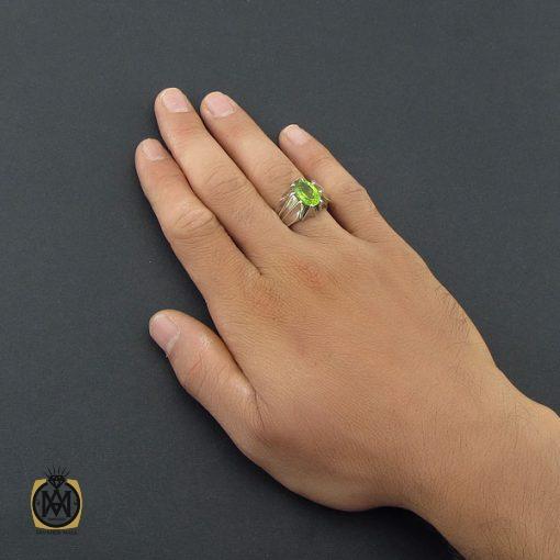 انگشتر زبرجد مردانه مرغوب و معدنی - کد 8550 - 5 308 510x510