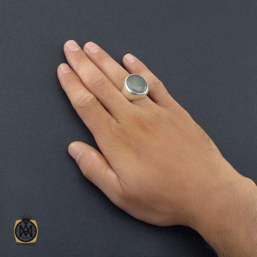 انگشتر آکوامارین مردانه درشت و معدنی - کد 8553 - 5 311 510x510