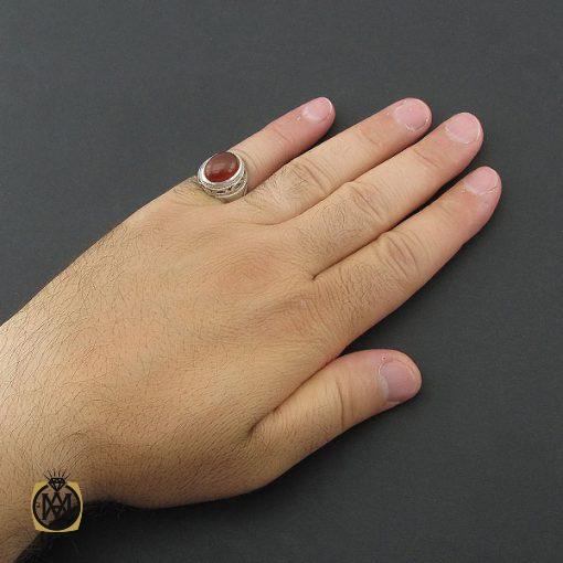انگشتر عقیق یمن مردانه رکاب طرح یا علی - کد 8582 - 5 341 510x510