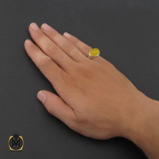 انگشتر عقیق زرد با حکاکی شرف الشمس مردانه - کد 8375 - 5 37 510x510