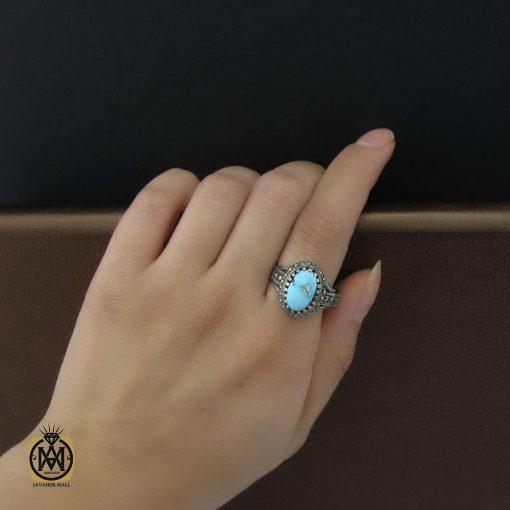 انگشتر فیروزه نیشابور زنانه طرح هستی - کد 2072 - 5 4 510x510