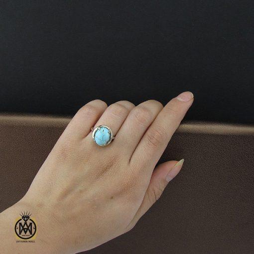 انگشتر فیروزه نیشابور زنانه طرح سارینا - کد 2073 - 5 5 510x510