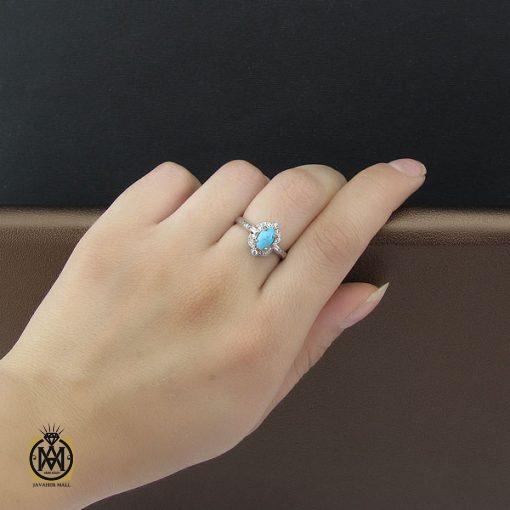 انگشتر فیروزه نیشابور زنانه طرح درسا - کد 2080 - 5 51 510x510
