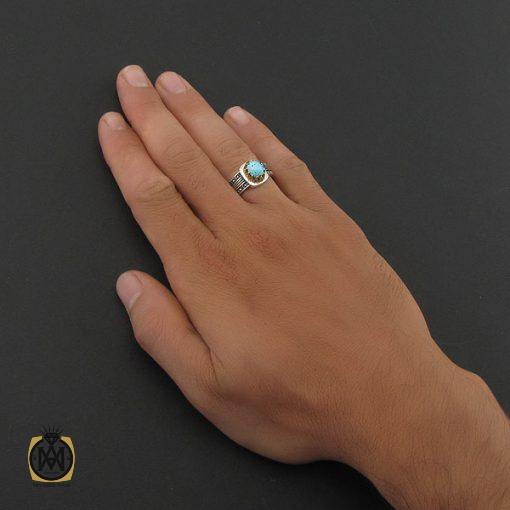 انگشتر فیروزه نیشابوری مردانه - کد 8390 - 5 77 510x510