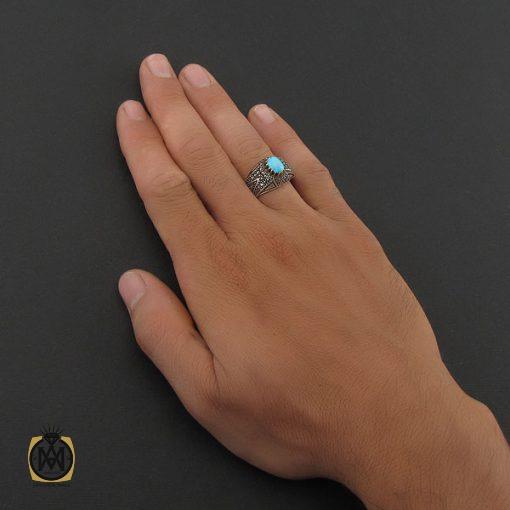 انگشتر فیروزه نیشابوری مردانه - کد 8393 - 5 80 510x510