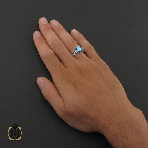 انگشتر فیروزه نیشابوری مردانه - کد 8397 - 5 84 510x510