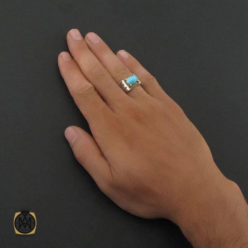 انگشتر فیروزه نیشابوری مردانه - کد 8399 - 5 86 510x510