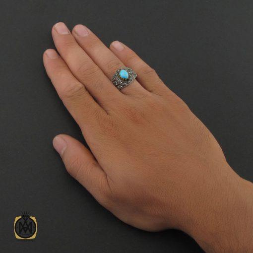 انگشتر فیروزه نیشابوری مردانه - کد 8400 - 5 87 510x510