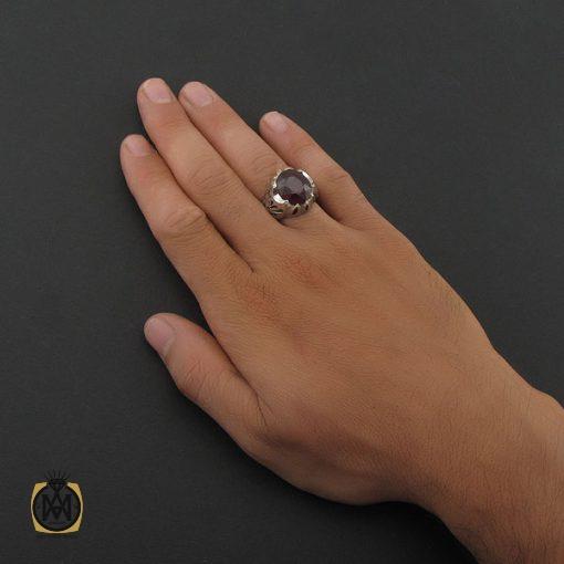انگشتر یاقوت سرخ آفریقایی مردانه – کد ۸۴۰۷