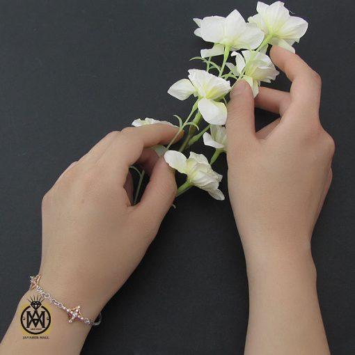 دستبند نقره طرح ثمین زنانه - کد 1071 - 6 3 510x510