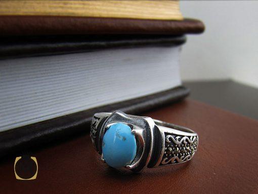 انگشتر فیروزه نیشابوری مردانه - کد 8397 - 8397 510x383