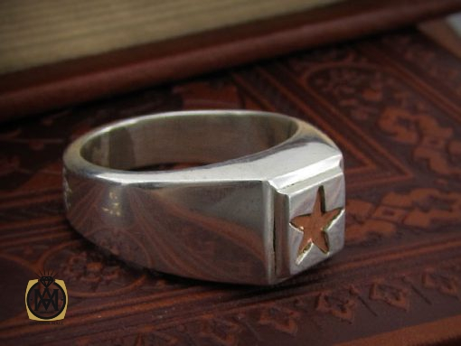 انگشتر نقره حرزدار استاد ضابطی مردانه – کد ۸۴۷۱